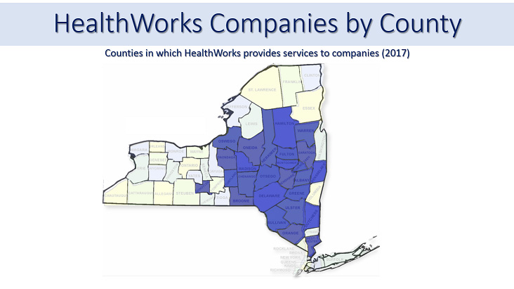 Map: Companies by County